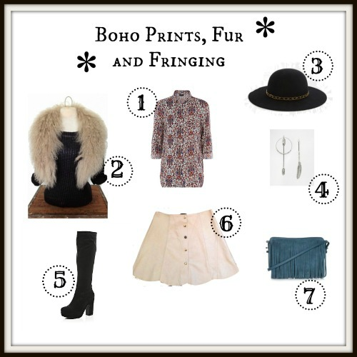 Boho Prints, Fur and Fringing Collage 2